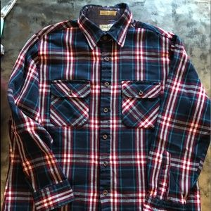 St. John's bay plaid shirt large